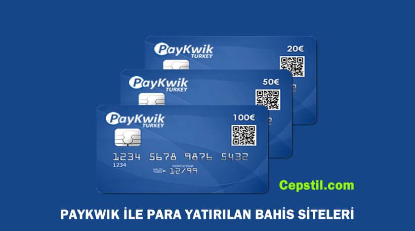 Paykwik kabul eden bahis siteleri